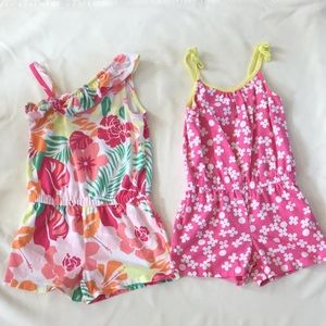 Two Gymboree rompers